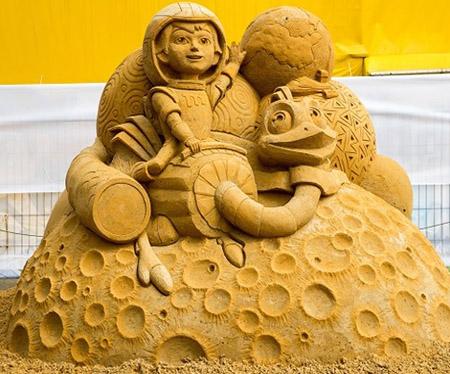 Песочные герои Канала Disney в Коломенском