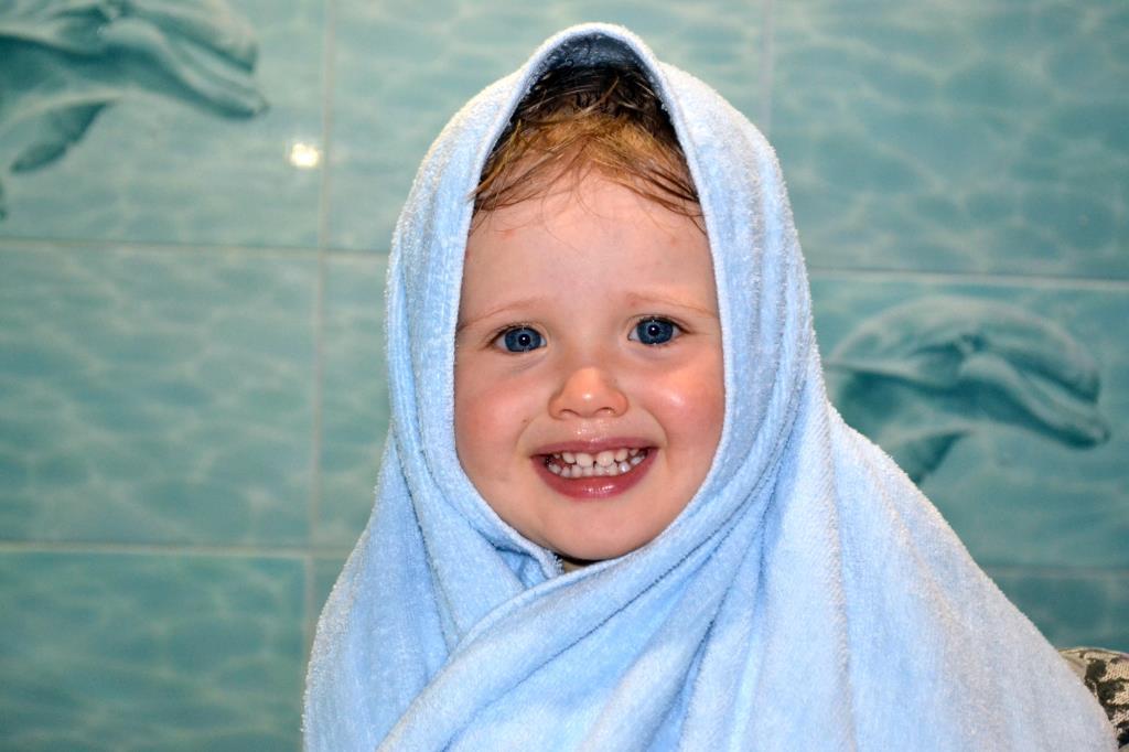 После купания. С улыбкой по жизни