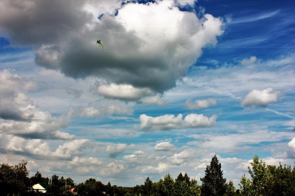 Летнее небо в Тульской области. Блиц: летнее небо