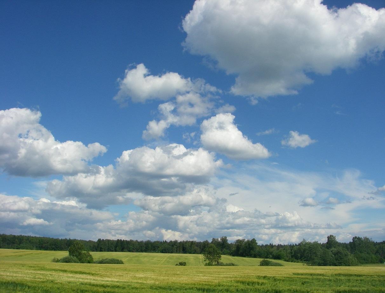 Летнее небо и облачка над ярославским шоссе.. Блиц: летнее небо