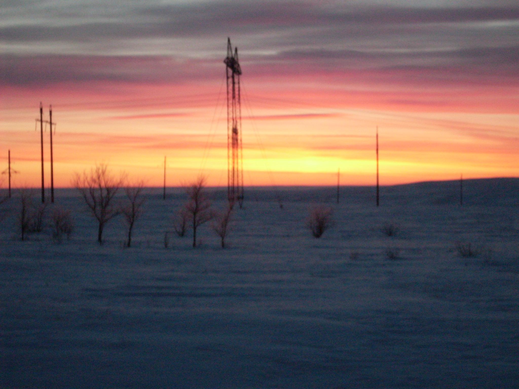 Зимний восход на Урале. Блиц: летнее небо