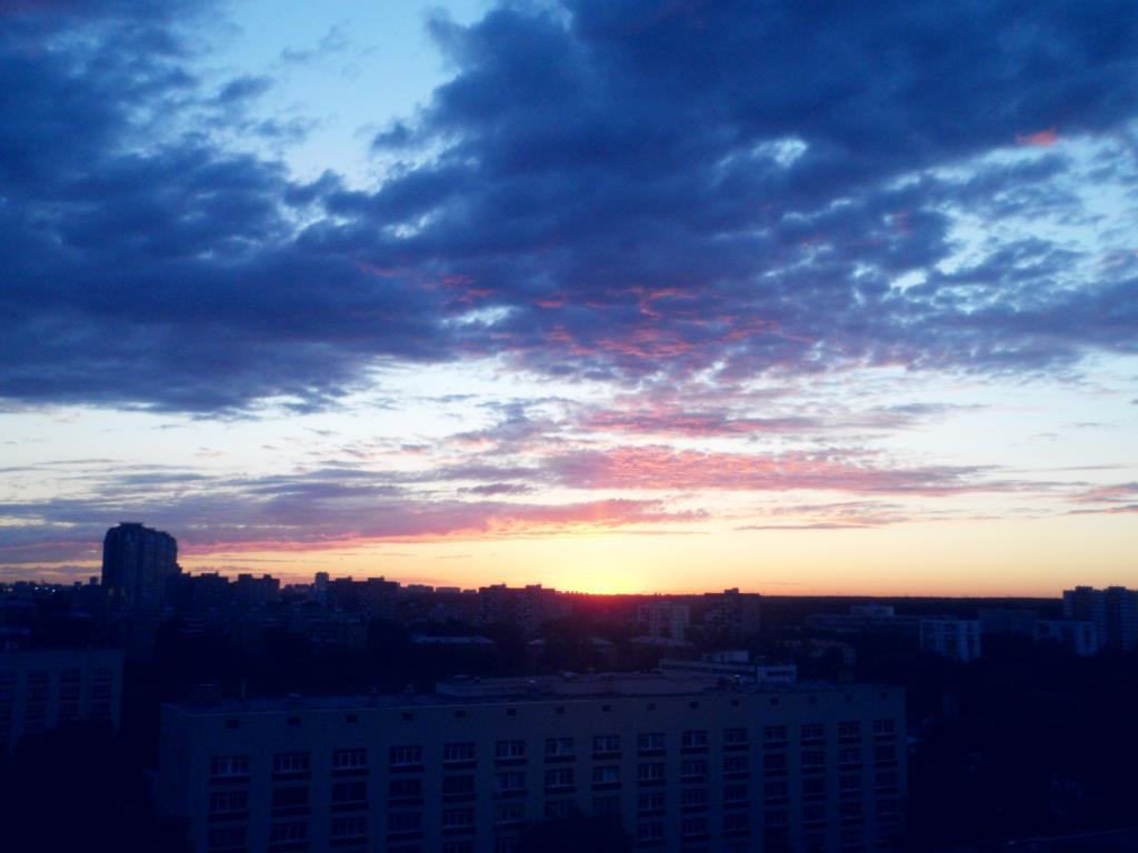 Рассвет. Блиц: облака