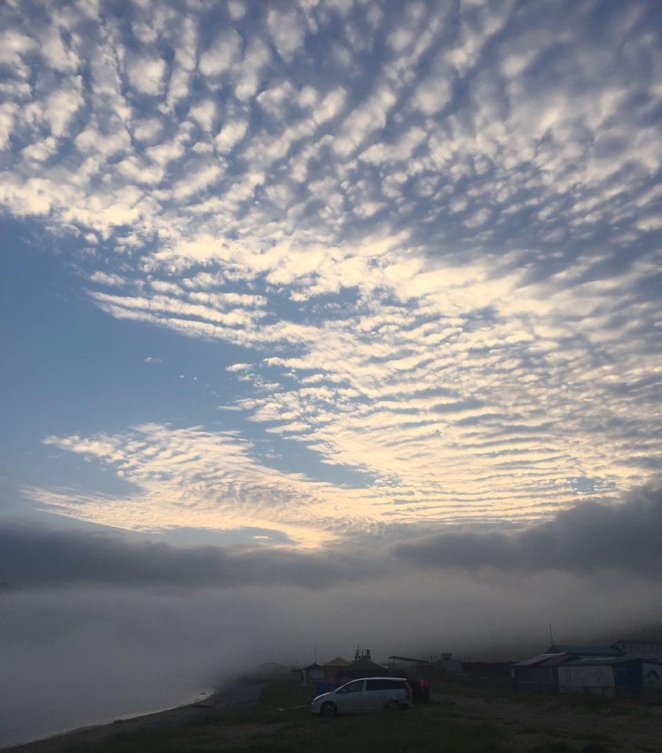 Небо, туман и море. Блиц: летнее небо