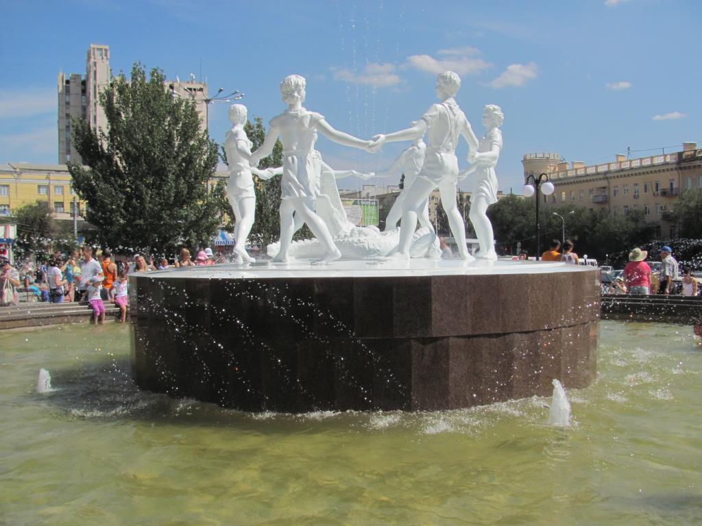 фонтан 'Бармалей Волгоград. Блиц: фонтаны