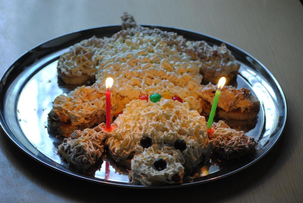 Торт 'Собачка' на 2а годика.. Блиц: десерты