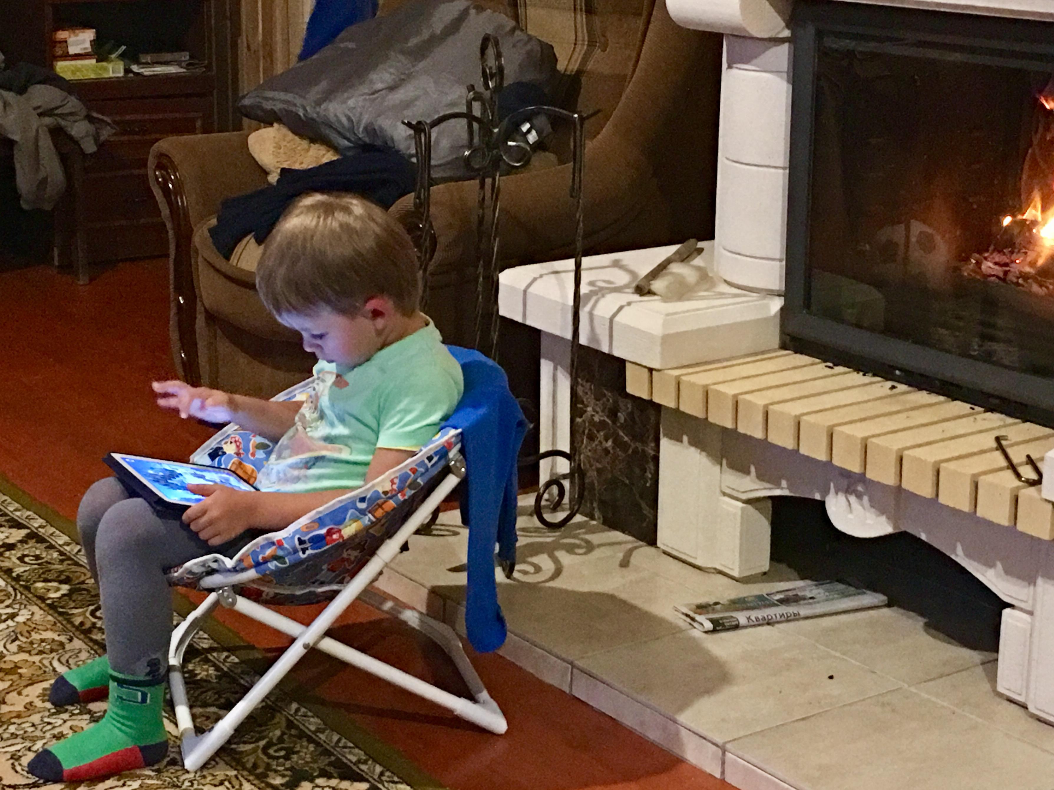 Хорошо погреться и поиграть (на даче у камина)!. Дети в интернете