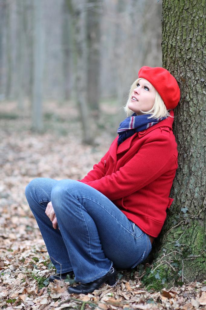 Мечты в осеннем лесу. Осенний образ