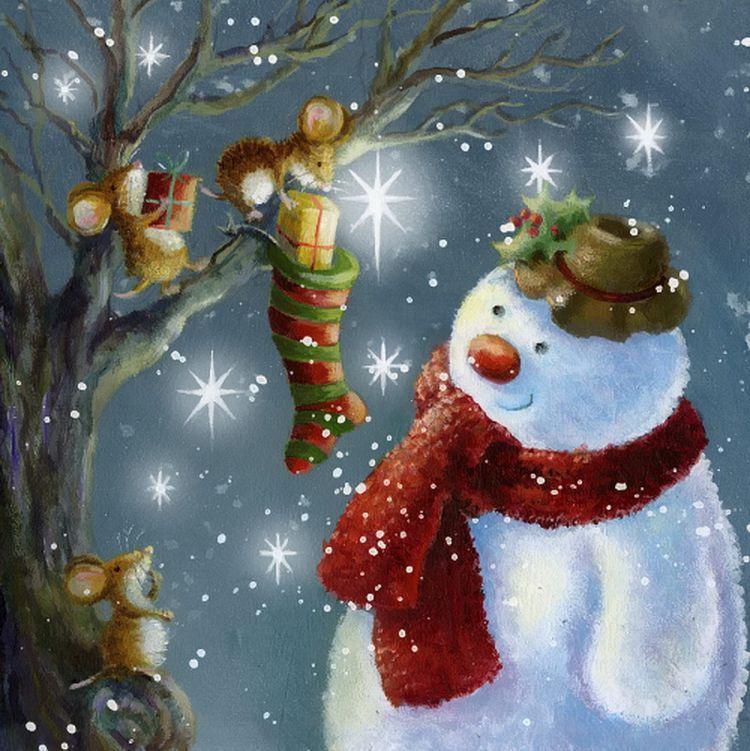 светлых новогоднее чудо рисунок осанки купить, большой