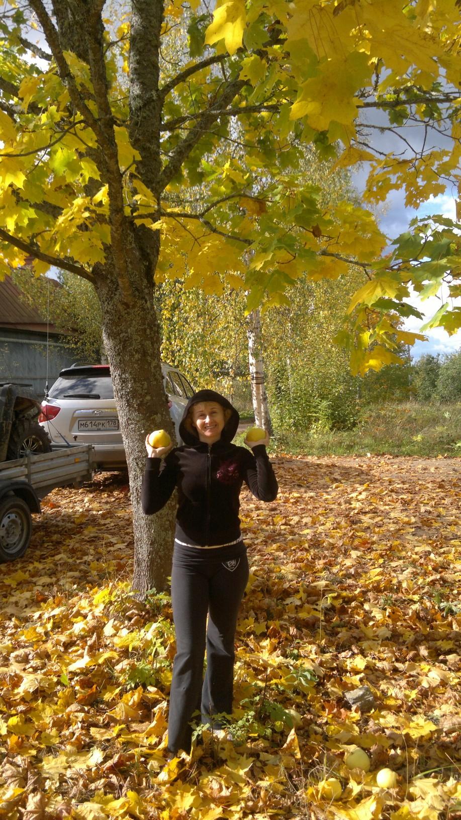 Осень, ура, у нас снова урожай яблок,приглашаю). Осенний образ