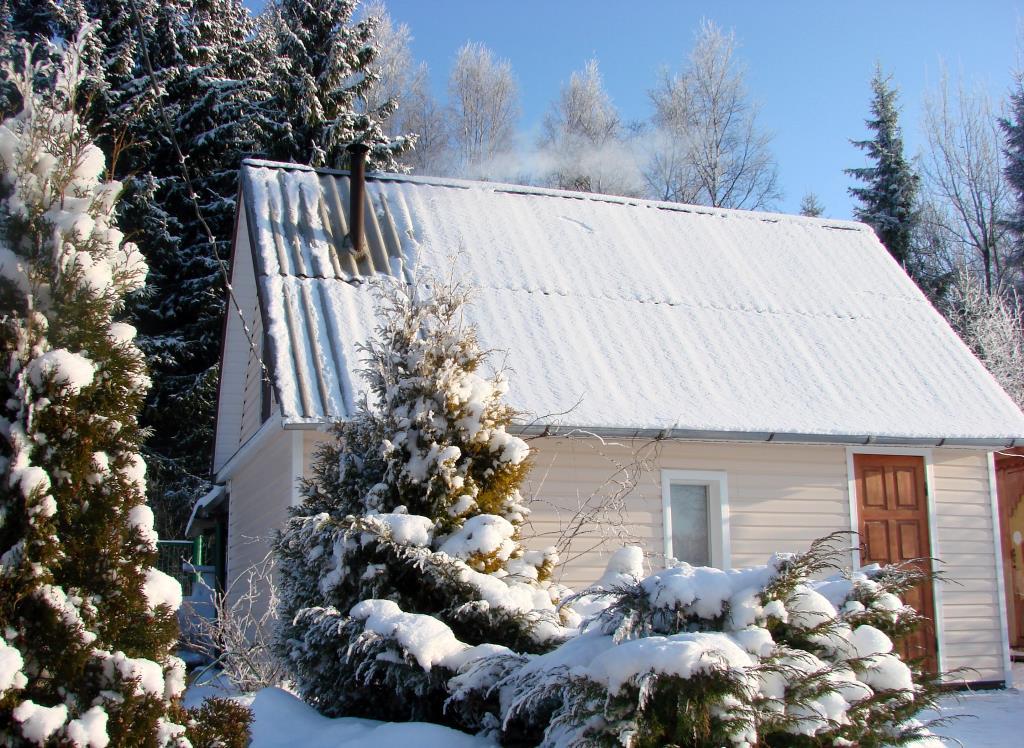 Зима на даче с банькой-чудо!. Блиц: зима