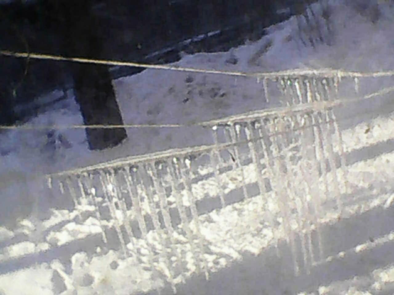 Сосульки. Блиц: из снега и льда