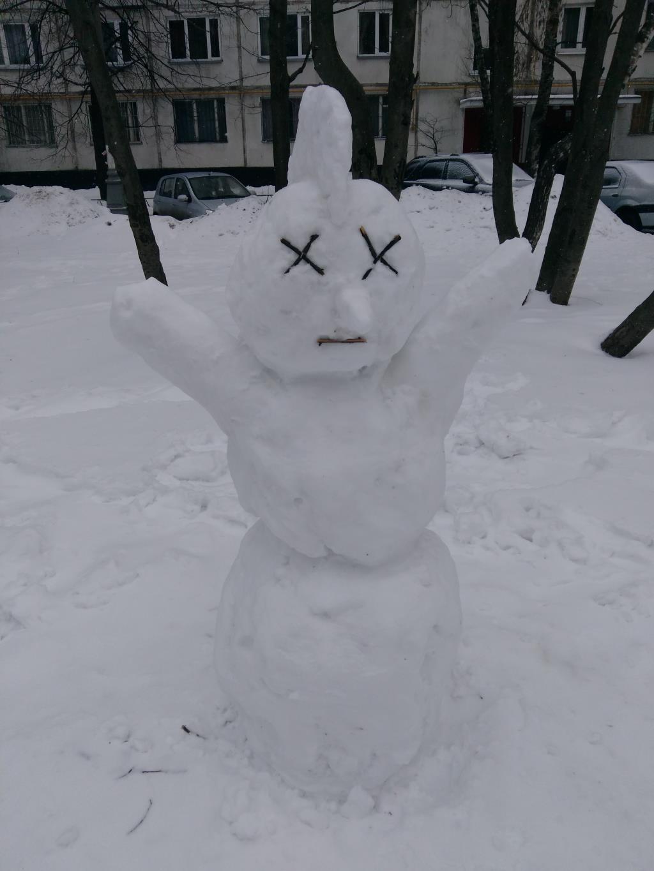 Снеговик-панк. Блиц: из снега и льда