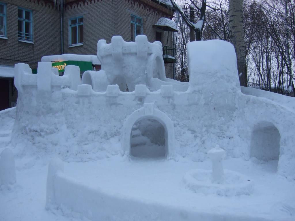 Снежная крепость. Блиц: из снега и льда