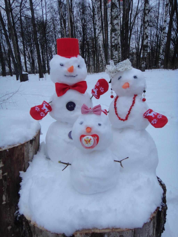 Снеговята для дочки. Блиц: из снега и льда
