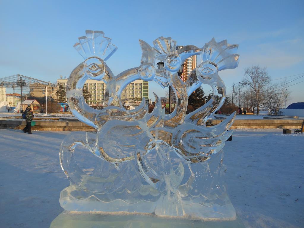 зимние Фламинго. Блиц: из снега и льда