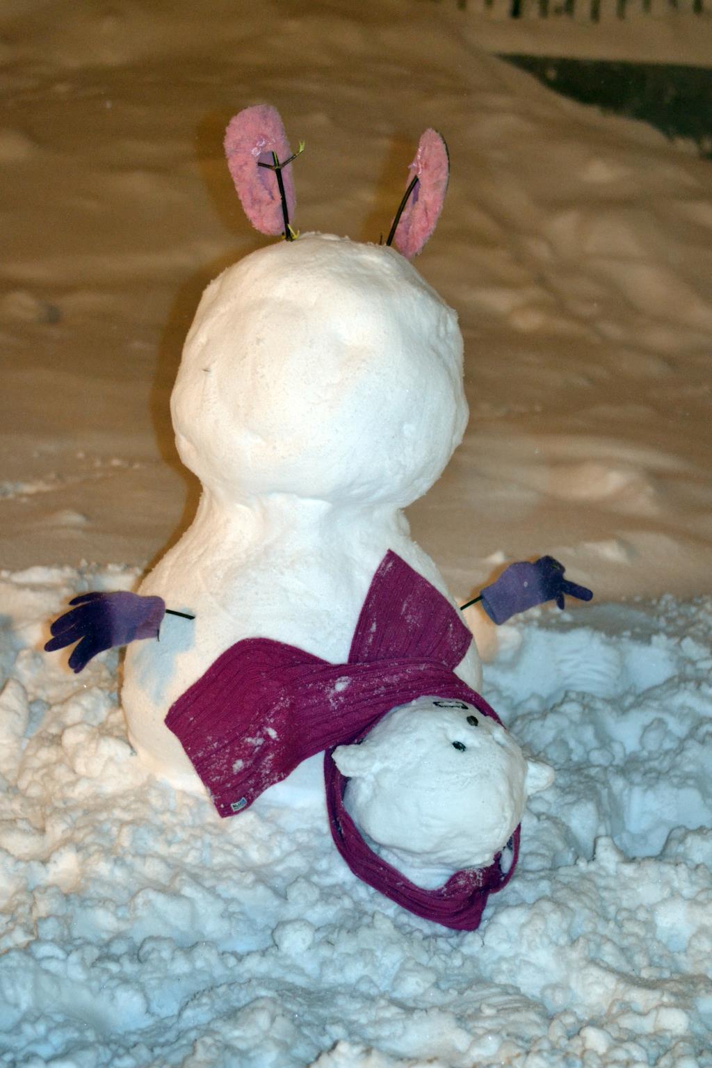 Новогоднее кружение.... Блиц: из снега и льда