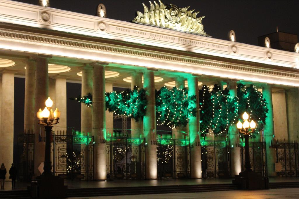 Елочка в парке Горького. Блиц: новогодняя елочка
