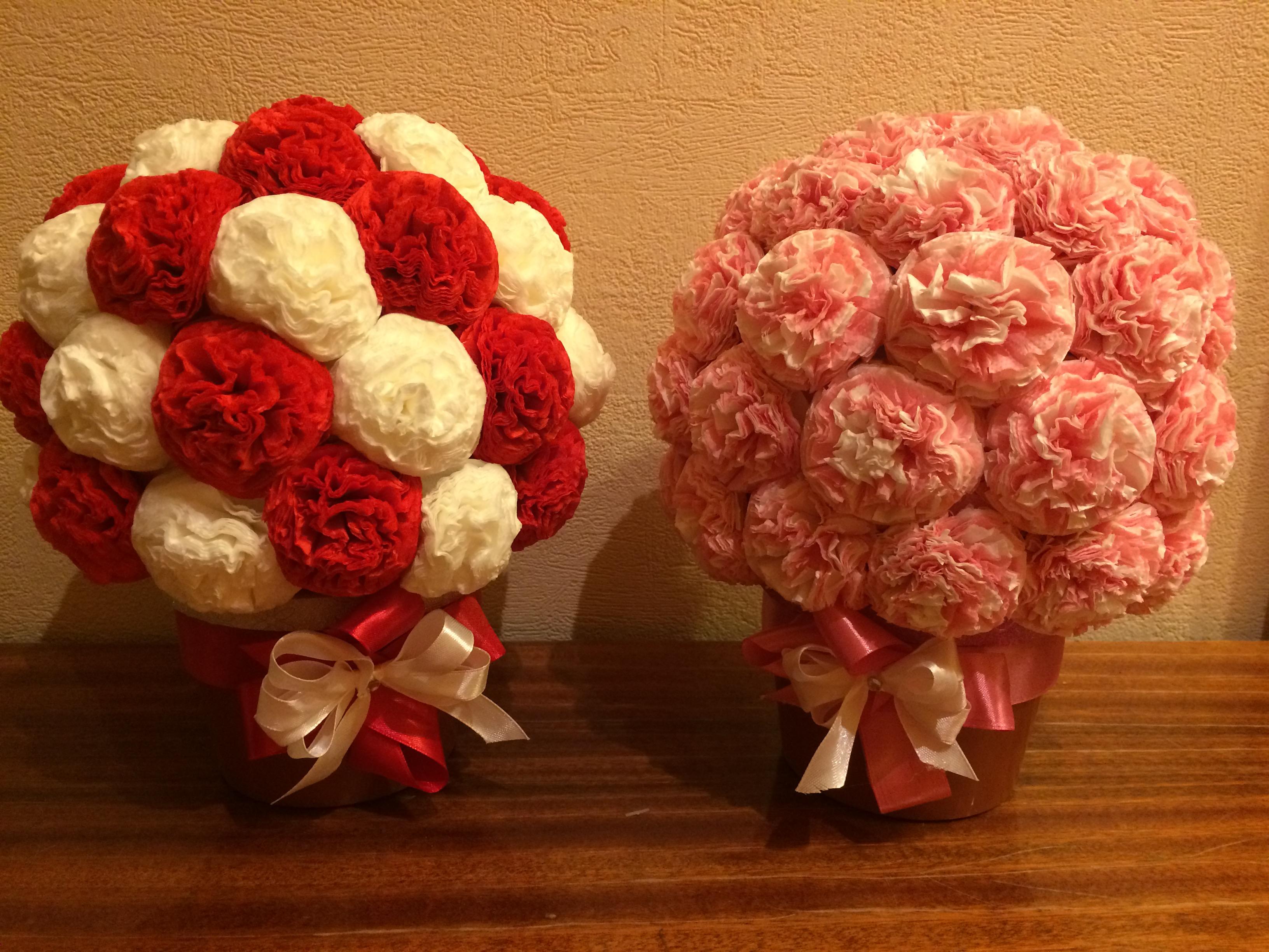 Из каких салфеток делать цветы пионы фото