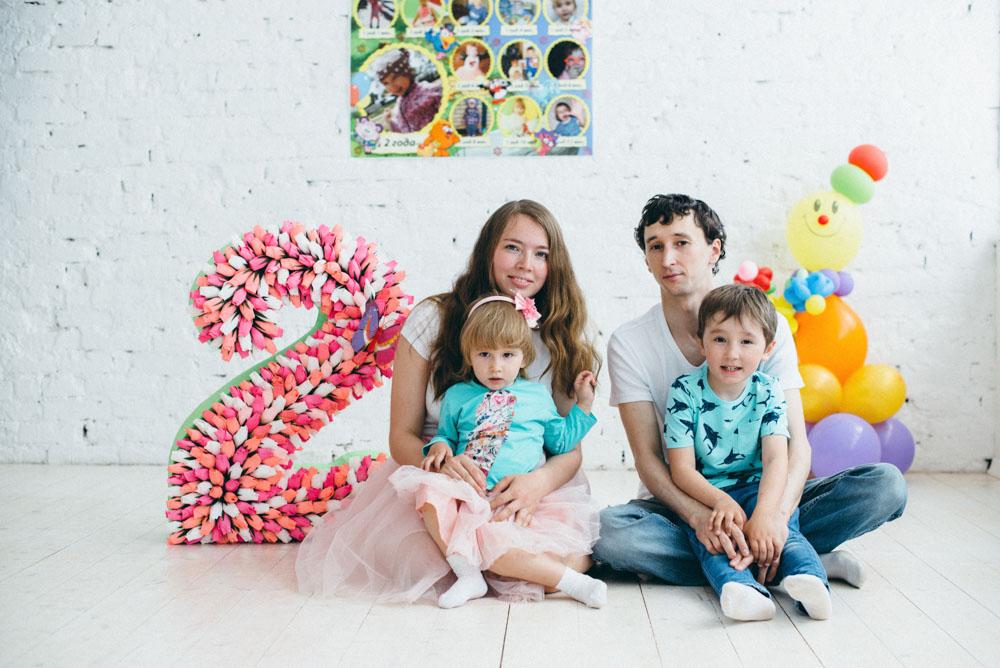 Амелии 2 годика. Поздравление с Днем Рождения