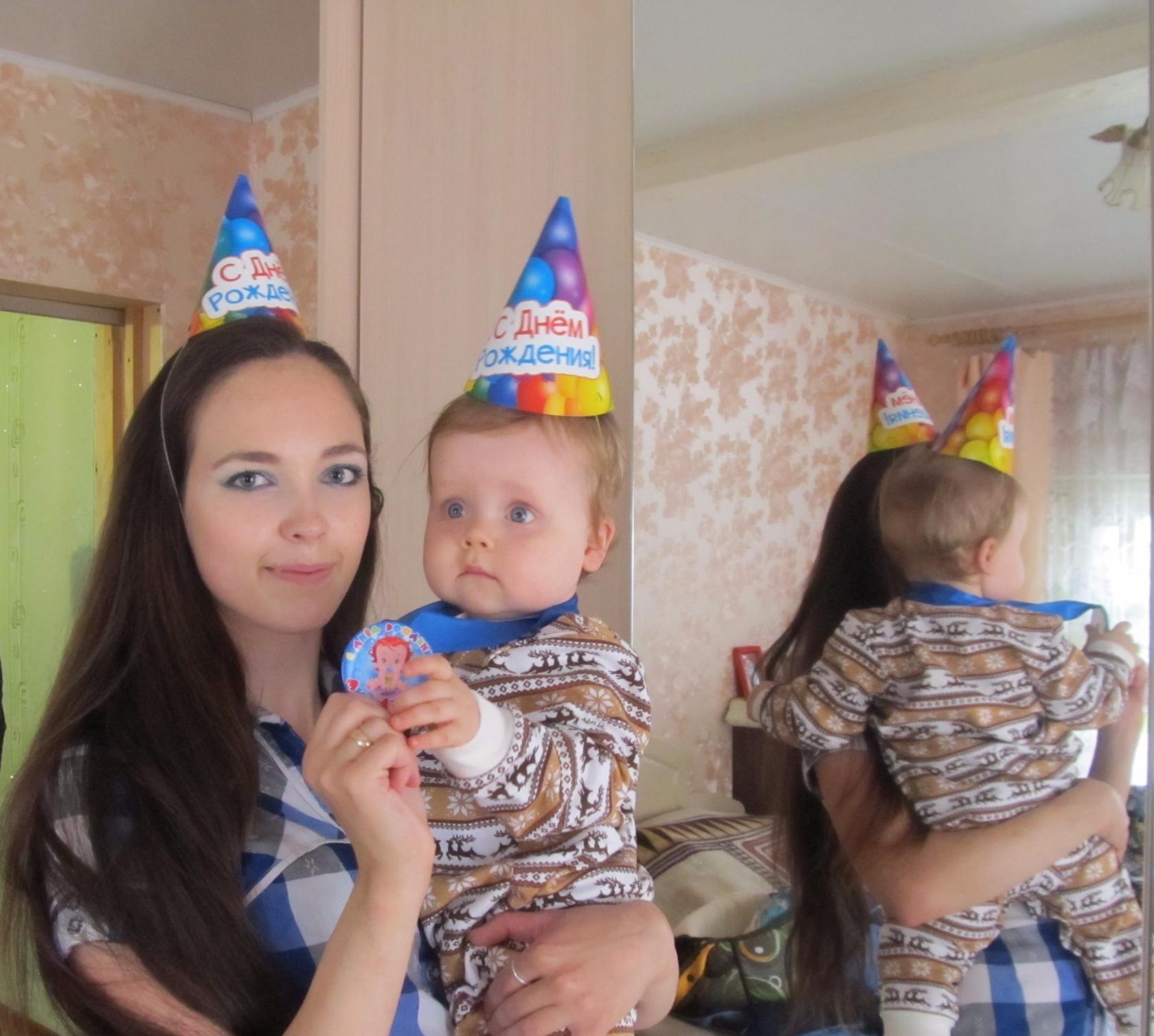Сашенька с мамой. Нам 1 годик!. Поздравление с Днем Рождения