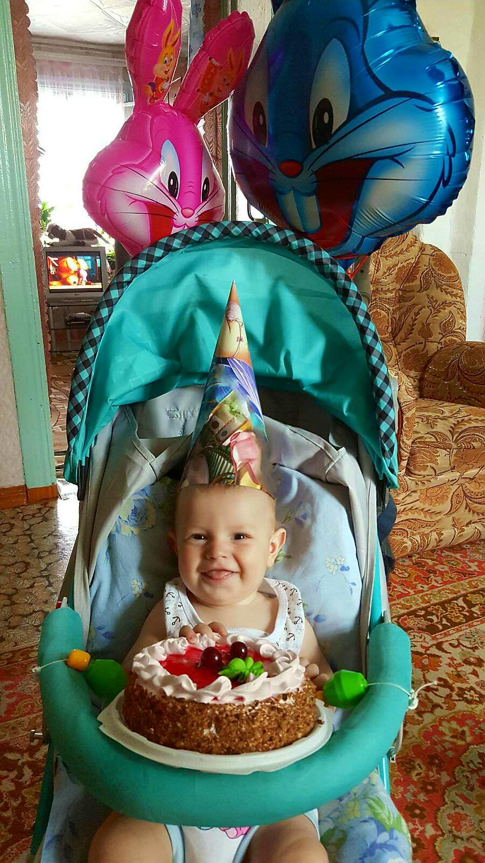 Савелькины счастливые пол года!!!!!!. Поздравление с Днем Рождения