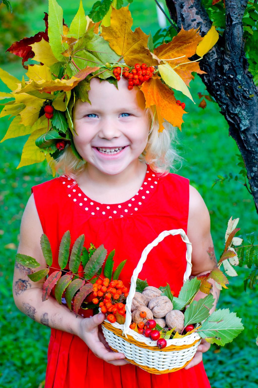 Девочка- осень. Краски осени