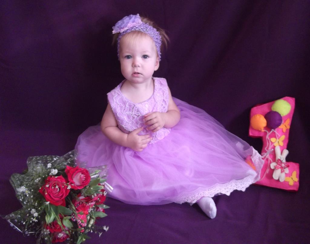 Моей доченьке 1 годик. Поздравление с Днем Рождения
