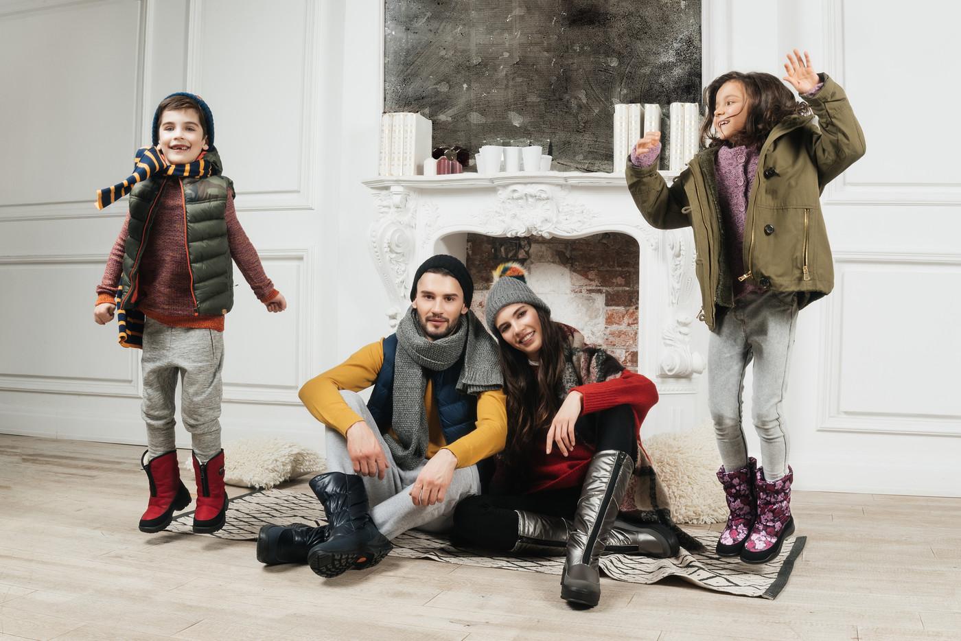 фото семьи реклама обуви приобрести