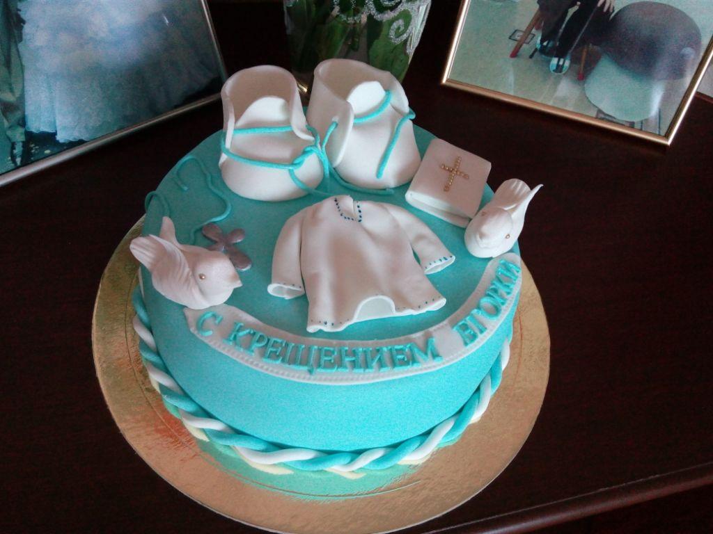 Тортик на крестины моего маленького сынишки Егорки. Блиц: торт