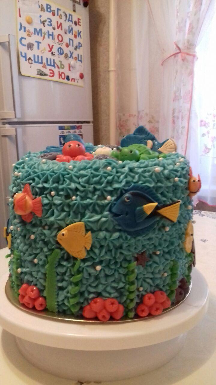 Морской мир. Блиц: торт