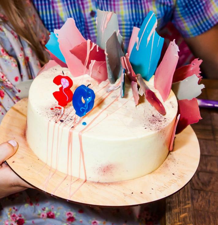 разноцветные перья. Блиц: торт