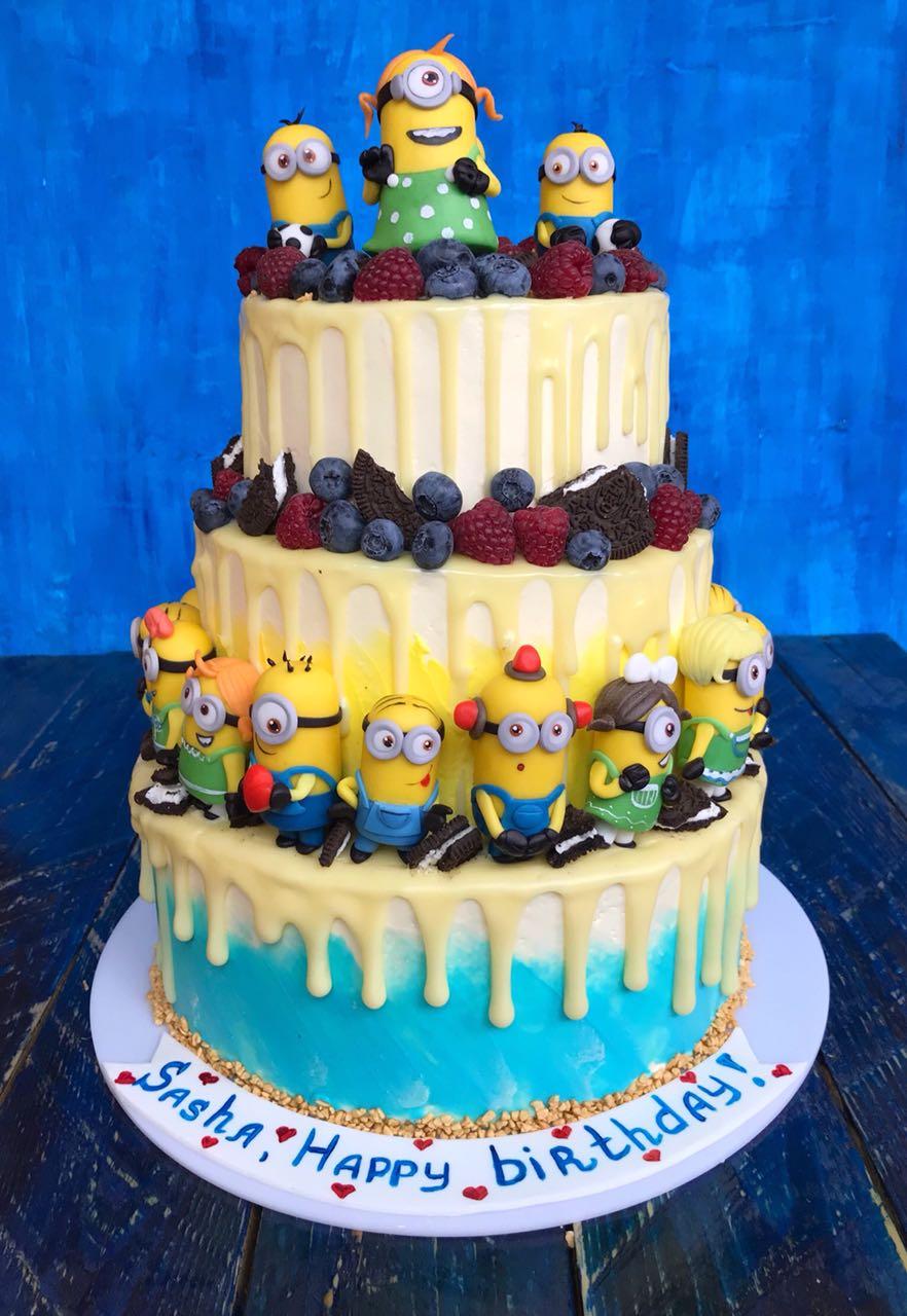 Торт Миньоны. Блиц: торт