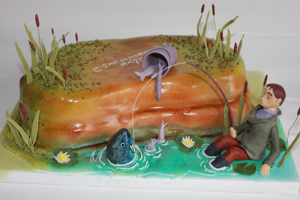 Любителю рыбалки.. Блиц: торт