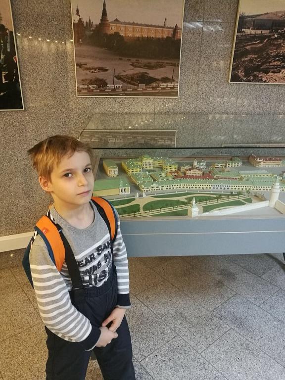 В музее археологии Москвы.