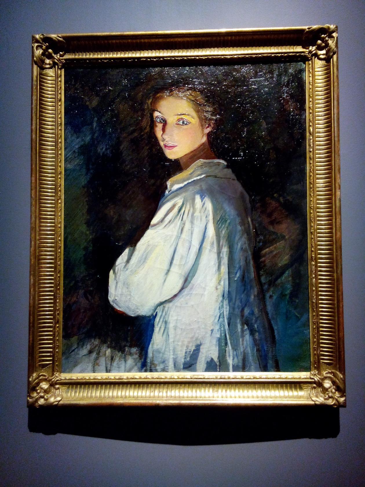 'Девушка со свечей.Автопортрет'Зинаида Серебрякова. Блиц: музейный экспонат