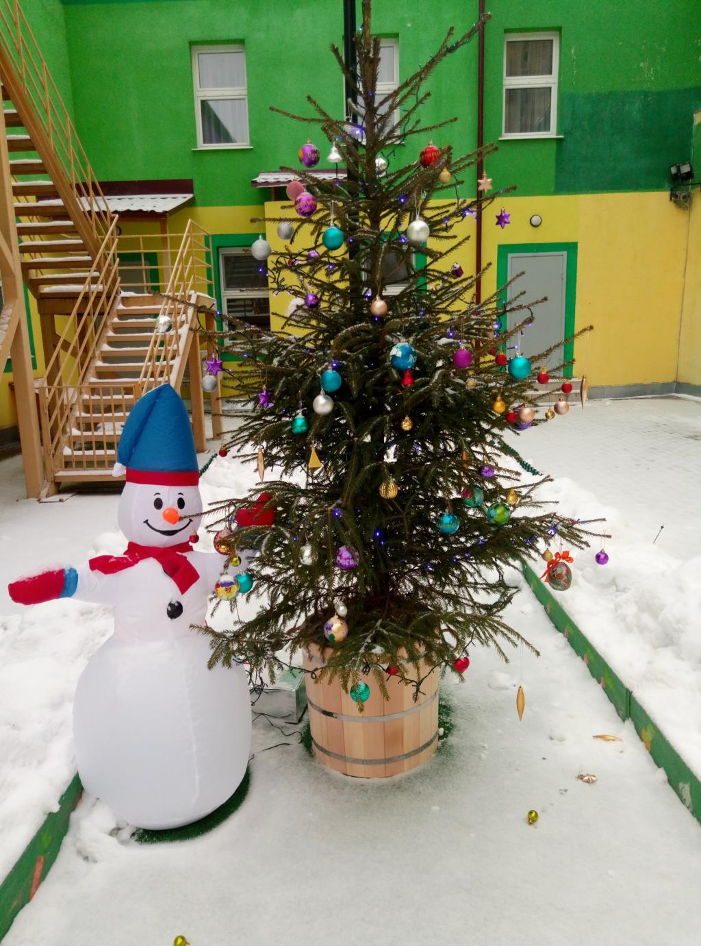 подарок садику . Блиц: новогодняя елка