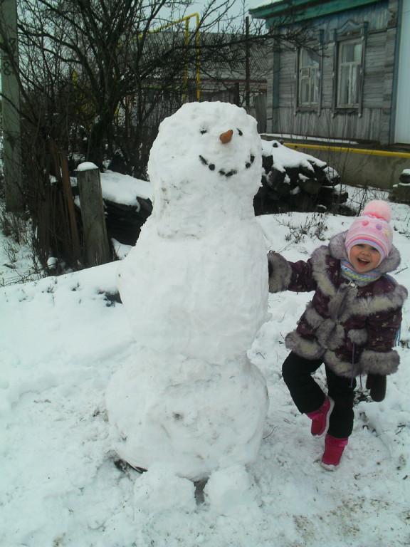 Снеговик.. Зимние забавы