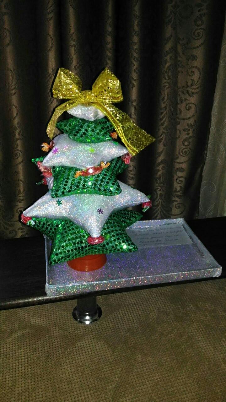 Наша елочка своими руками 'Самая мягкая и сладкая'. Блиц: новогодняя елка