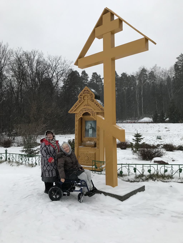 с мамой в гостях у св.Серафима в Дивеево. Зимние забавы