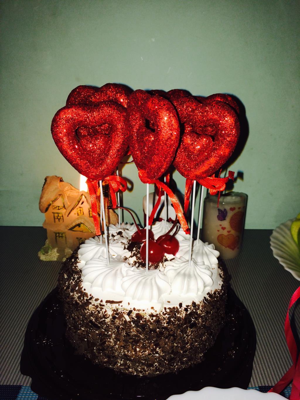 Тортик от всего сердца . Блиц: сердечки