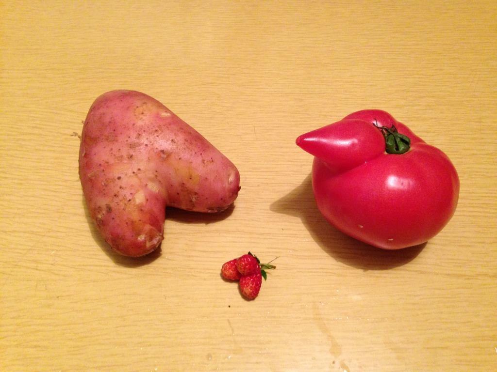 Картофельное сердце и не только.... Блиц: сердечки