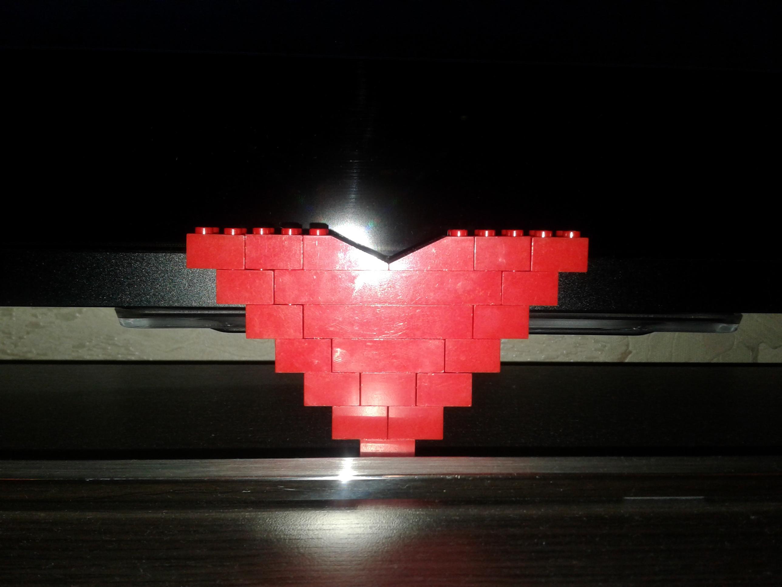 сердце из ЛЕГО-подарок сына на НГ. Блиц: сердечки