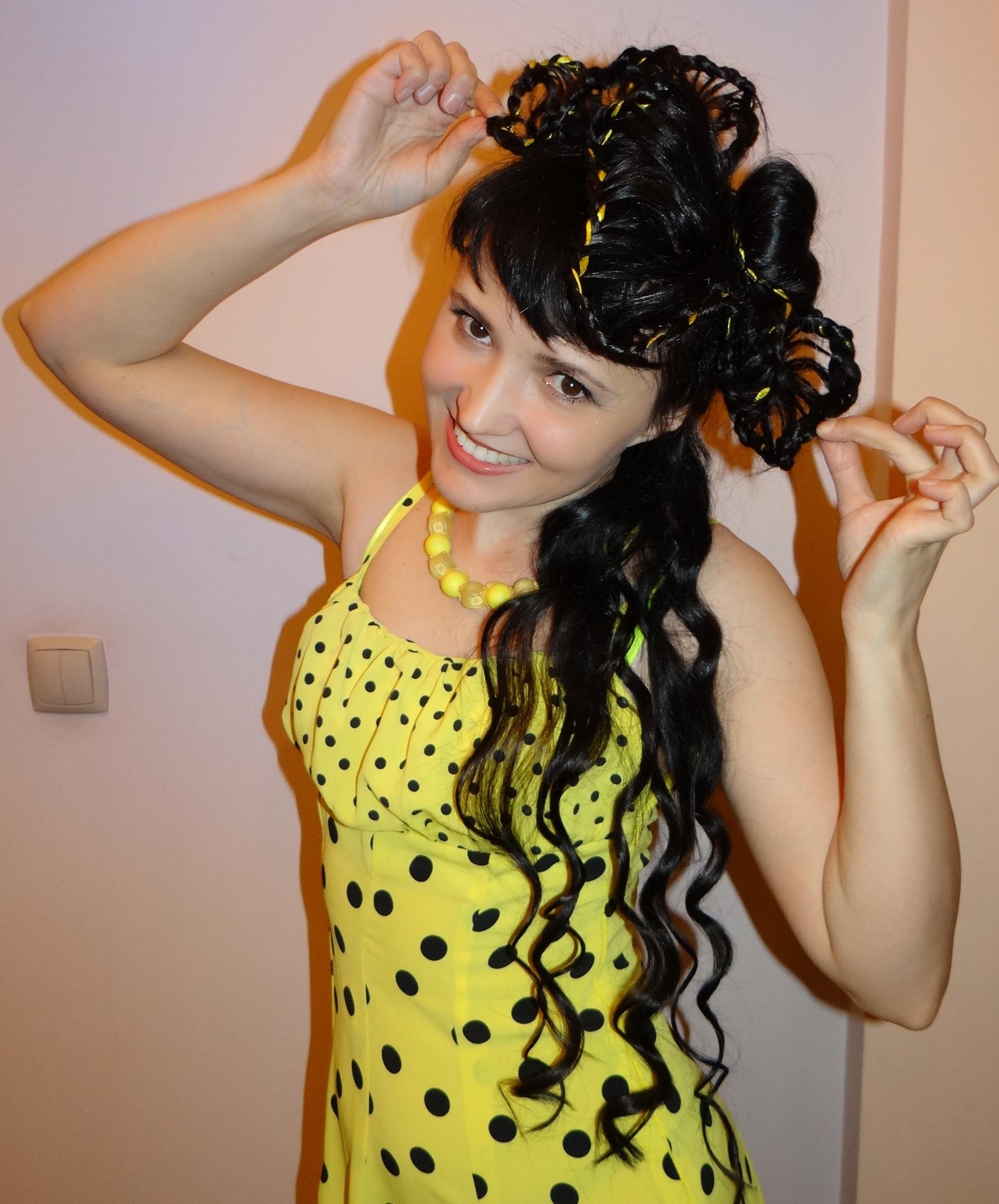 Шляпка из волос для моего яркого настроения!. Прическа под настроение