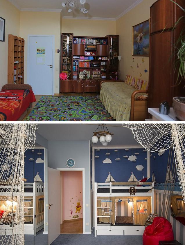 ДО и ПОСЛЕ_Комната в морском стиле