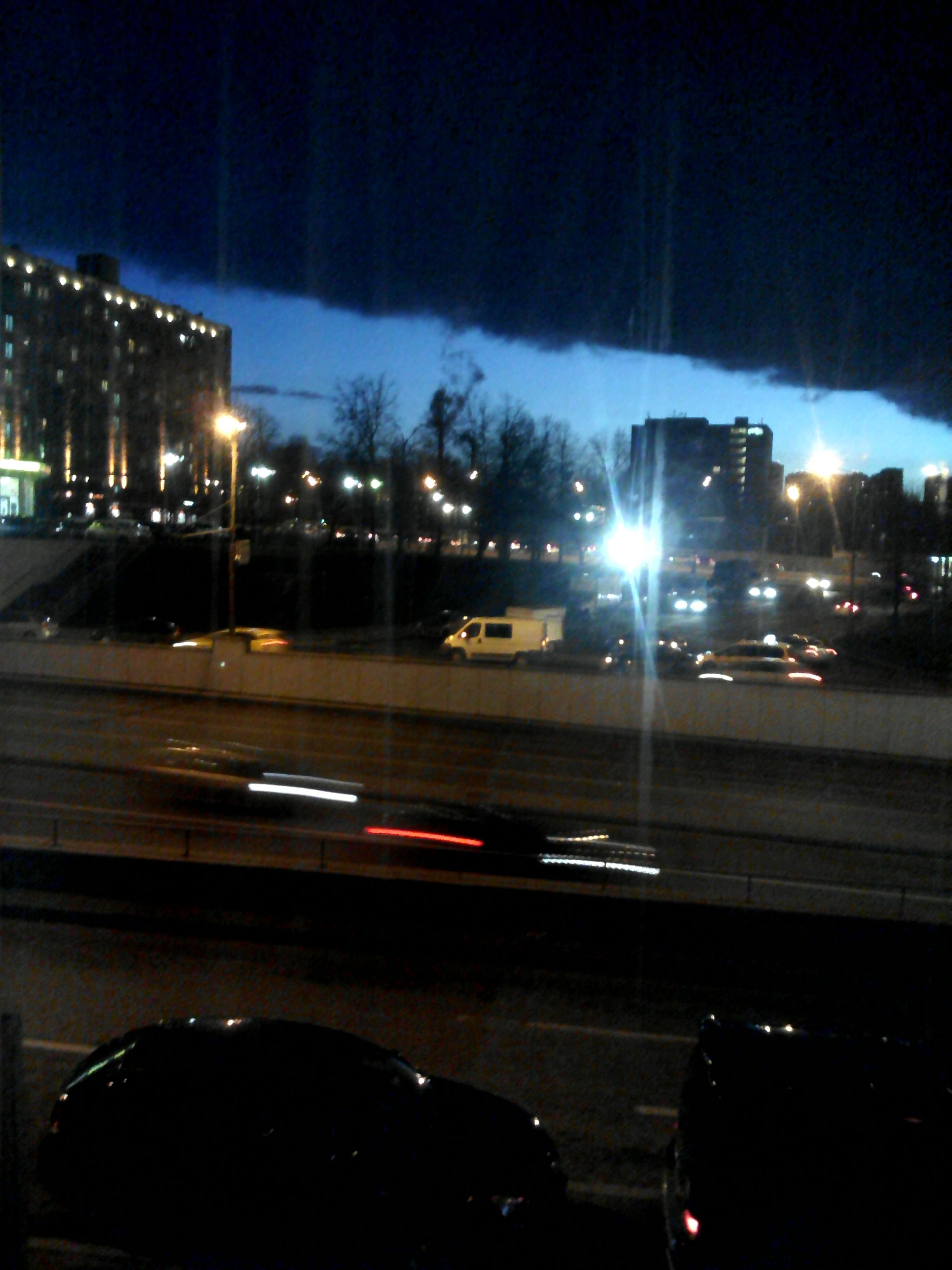 Такое странное облако я видела из своего окнп. Блиц: облака