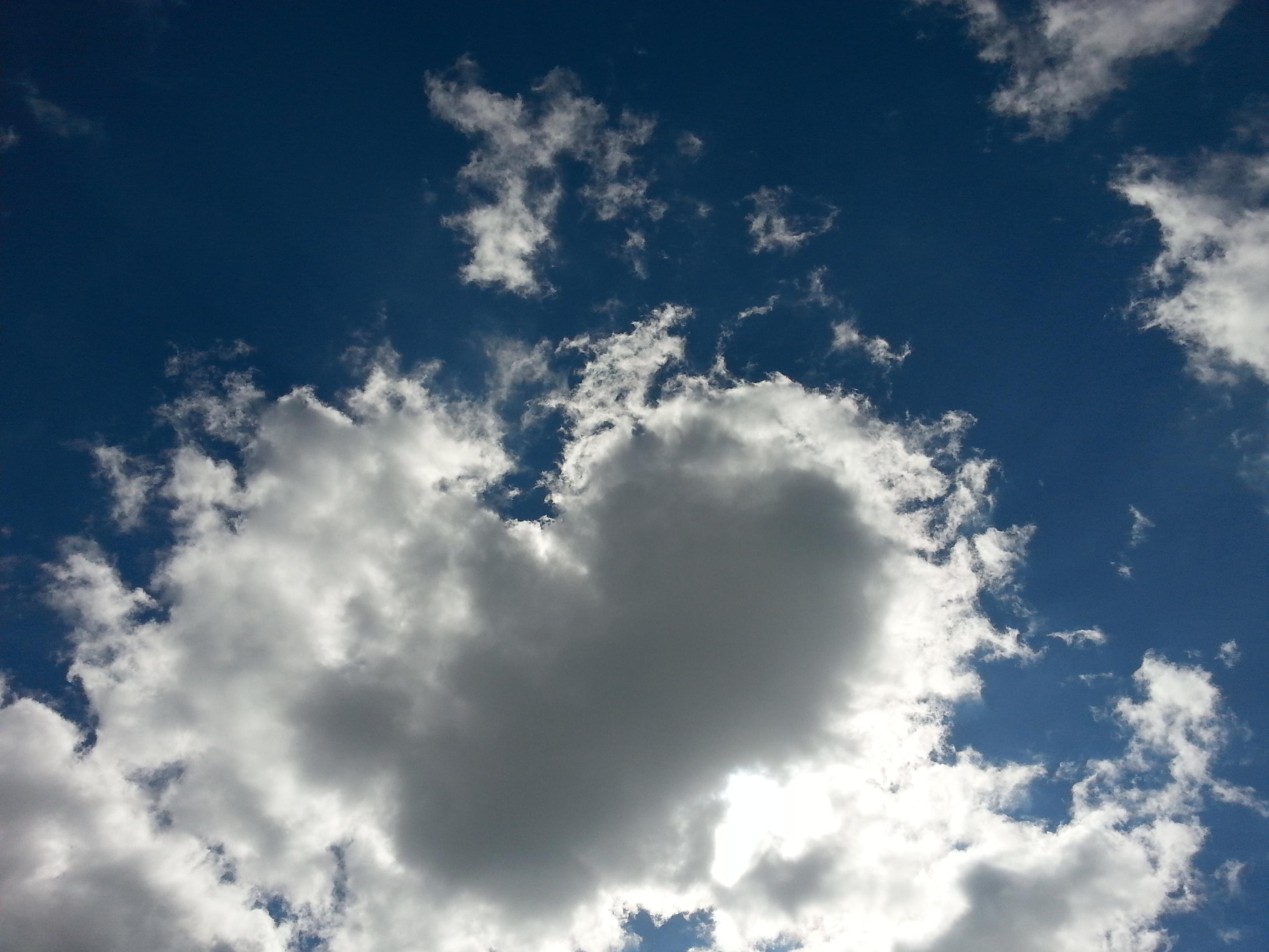 Воздушно-солнечное сердце♡. Блиц: облака