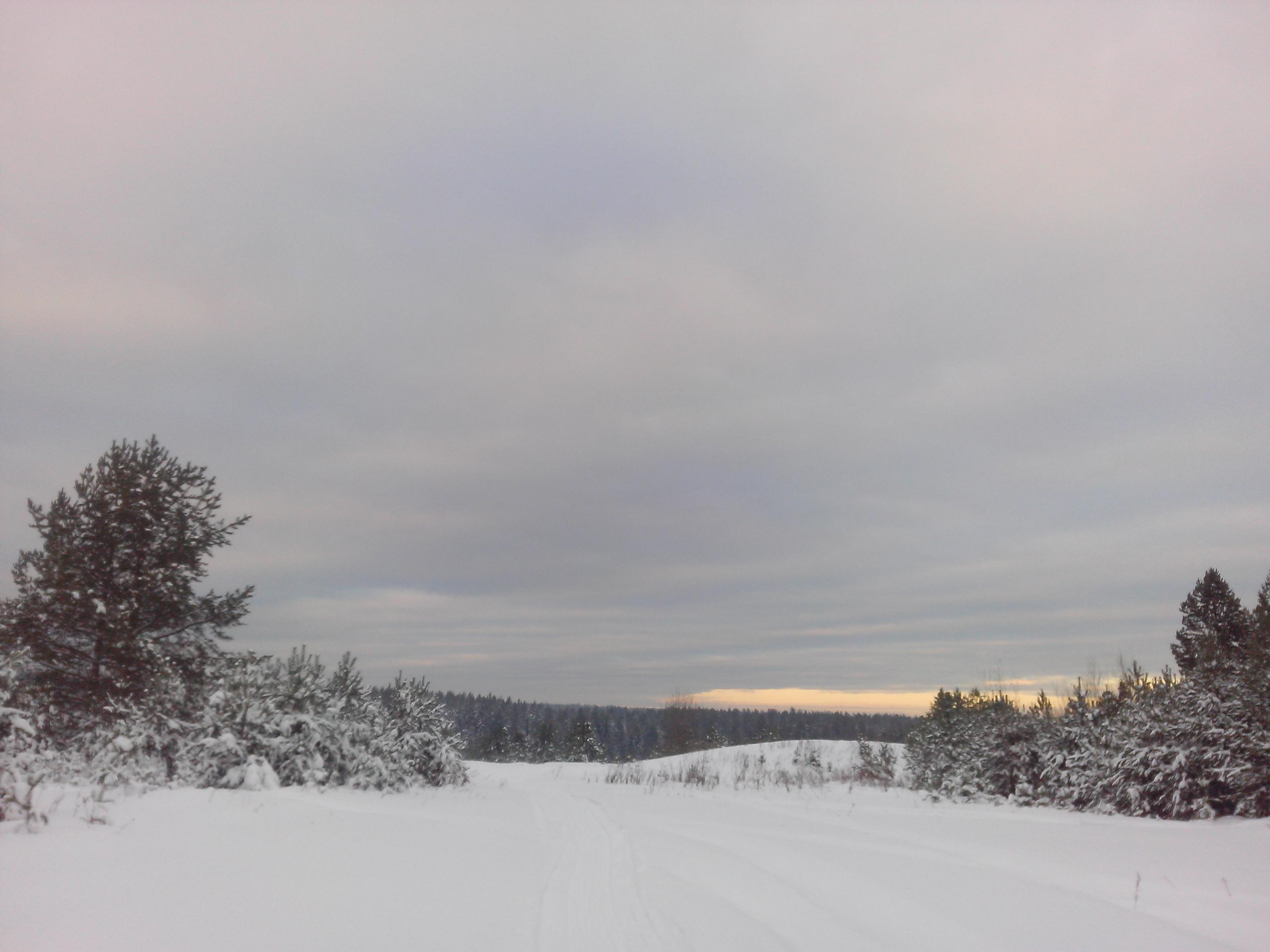 Зимнее небо. Блиц: облака