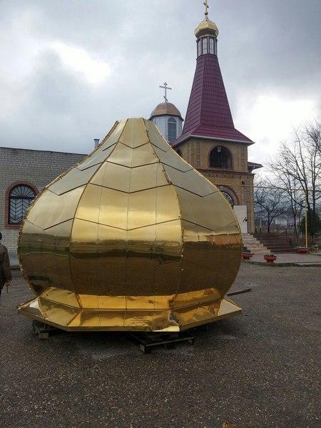 Установка нового купола храм Георгия Победоносца. Блиц: купола