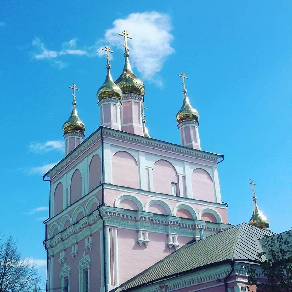храм святых Бориса и Глеба, Боровск Калужская  обл. Блиц: купола