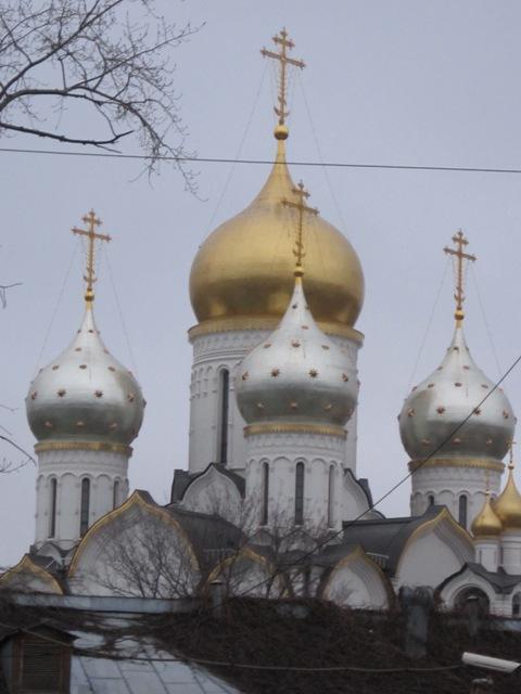 Церковь Воскресения Словущего на Остоженке. Блиц: купола